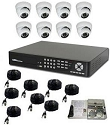 8 Channel DVR Surveillance Package with IR Dome Cameras