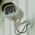 Fake Security Camera in Outdoor housing with LED