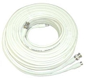 150 Feet White Pre-Made RG59 Power and Video Cable