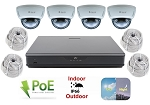 IP Surveillance System with 16 Channel NVR and 4 Dome Cameras