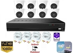 8 Channel 1080p White Dome Surveillance System
