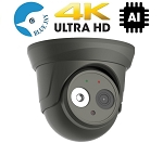 4K 8MP IP Dome With 2.8mm Lens and Smart AI Functions - Gray