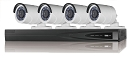 4 Channel HD-TVI 1080p Bullet Camera Surveillance System