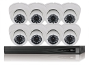 HD-TVI 8 Channel Surveillance System with IR Dome Cameras