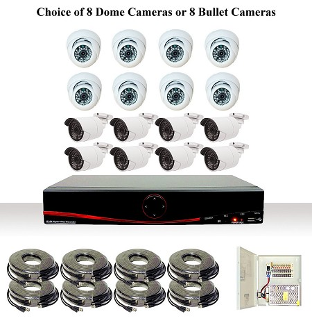 8 Channel AHD Security Camera System