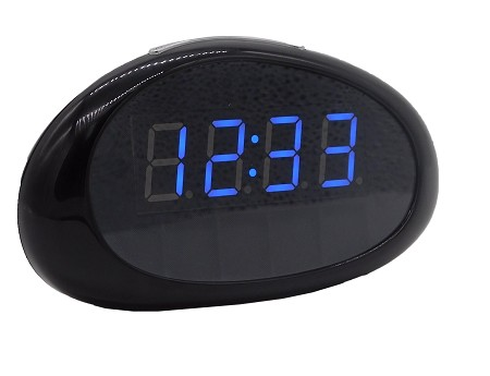 Wi-Fi Desk Clock Hidden Camera