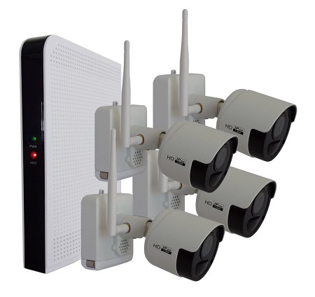 Wire Free 4 Camera Surveillance System