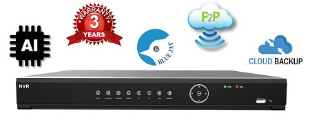 Blue Jay PRO Series 16 Channel PoE NVR with AI+ Detection