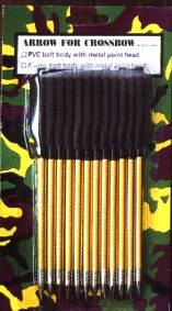 Pack of 12 metal arrows