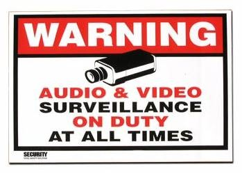 Surveillance Warning Sticker