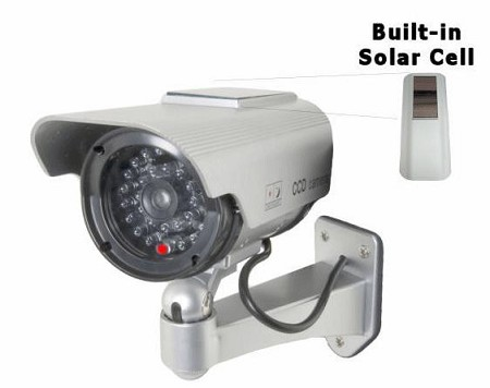 Fake IR Security Camera with Solar Powered Flashing LED