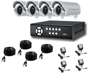 4 Channel Surveillance Kit with 4 Bullet Cameras