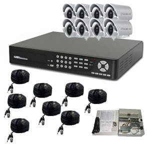 8 Channel DVR Surveillance Package with Bullet Cameras