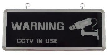 Lighted CCTV Warning Sign