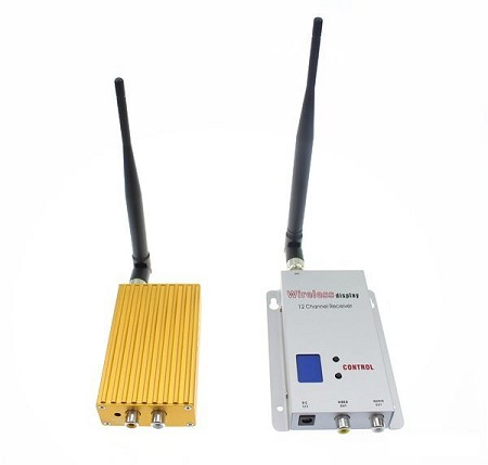 1 Watt 1.2 GHz Video Signal Transmitter with Receiver