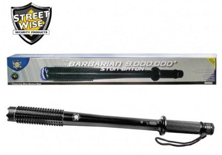 9,000,000 Barbarian Stun Baton Flashlight by Streetwise